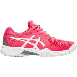 Chaussures Junior Asics Gel Resolution 8 GS - Rose/Blanc - Toutes surfaces