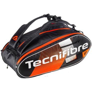 Sac 12 Raquettes Tecnifibre Air Endurance Noir/Orange
