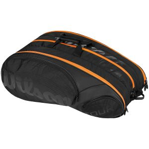 Sac Wilson Pro Burn Tour 12 Raquettes Orange/Noir