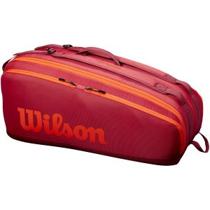 Sac 9 Raquettes Wilson Tour Rouge/Orange