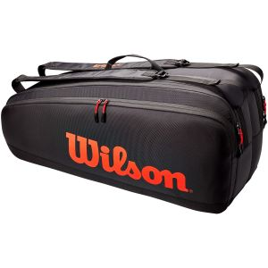 Sac 6 Raquettes Wilson Tour Noir/Orange
