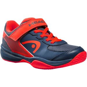 Chaussures Junior Head Sprint 3.0 Velcro Marine/Rouge - Toutes surfaces