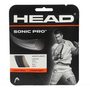 Cordage Head Sonic Pro (Contrôle) Blanc ou Noir 1,25 ou 1,30 - 12m - 1 raquette