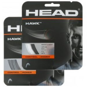 Cordage Head Hawk (Contrôle) Blanc ou Argent 1,20 / 1,25 / 1,30 - 12 m - 1 raquette