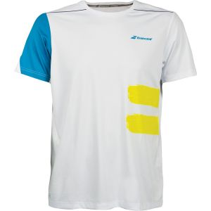 T-Shirt Homme Babolat Crew Neck Blanc Taille S