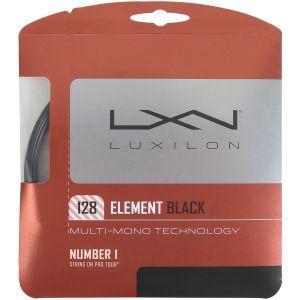 Cordage Luxilon Element 1,28- 12,2 m -1 raquette- Noir
