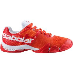 Chaussures Homme Babolat/Michelin Jet Rouge - Terre Battue - Padel