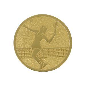 Pastille Tennis Dame Aluminium à Incorporer dans les Médailles
