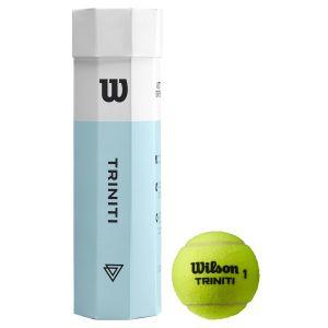 Tube de 4 Balles Pression Wilson Triniti - +Durabilité Augmentée +Meilleures Sensations - Tube 100% Recyclable - Officiel ITF