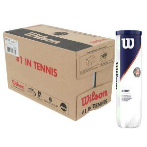 Cartons de 18 Tubes de 4 Balles Wilson Sponsor Officiel Roland Garros Toutes Surfaces