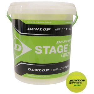 Balles Dunlop Green Competitions Juniors Swiss Tennis Baril de 60