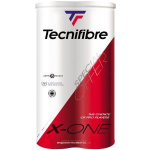 Pack de 2 Tubes Balles Tecnifibre X-One - Swiss Open Gstaad et Lausanne