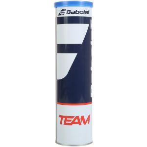 Balles Babolat Team tube x4 Officielles IFT et SwissTennis - Toutes surfaces
