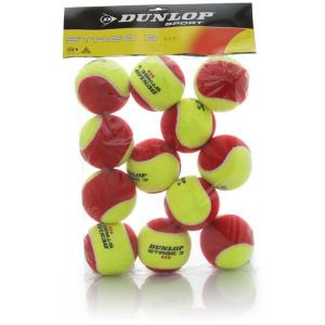Balles Dunlop Red Programme Kids Swiss Tennis Sac X 12