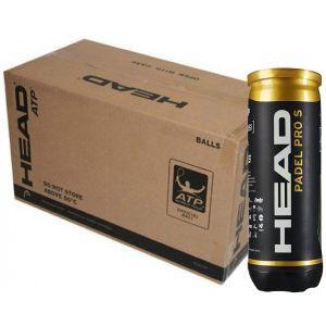 Balles Head Padel Pro S - Officielles Competitions - Tubes x3 balles - Carton de 24 tubes