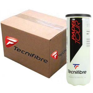 Carton 24x Tubes Balles Tecnifibre Officielles Competitions World Padel Tour Tube x3
