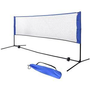 Filet Mini-Tennis ou Badminton - Montage rapide - Dimensions du filet : 300 x 73 cm  Ajustable en hauteur de 86 à 150 cm