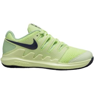 Chaussures Junior Nike Federer Zoom Vapor X - Jaune Lime - Toutes surfaces