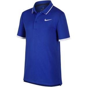 Polo Garçon Nike Dry Team Bleu/Blanc