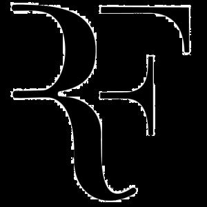 Autocollant RF - Federer / Blanc - Rouge ou Noir / 2 Tailles 19 ou 9 cm