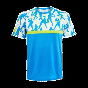 T-Shirt Technique Homme Babolat Compet - Bleu/Lime - 1x XL