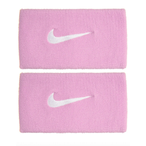 Serre-poignets absorbants Nike Rafa Rose/Blanc