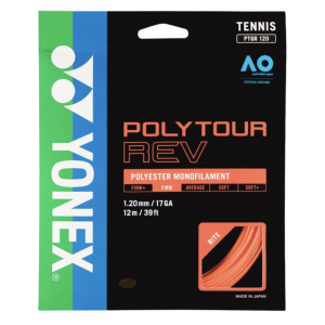 Cordage Yonex PolyTour REV Orange (Contrôle et Prise d'Effets)