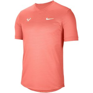 T-Shirt Technique Homme Nike Rafa 2021 - Orange - Col en V