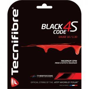 Cordage Tecnifibre Black Code 4S - Prise d'effets et Contrôle - 12m Noir