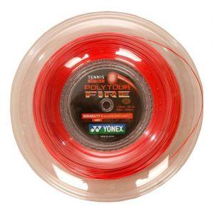 Cordage Yonex Poly Pro Tour Fire 1.25 Rouge 200m - 16 raquettes env. (Contrôle et Durabilité)