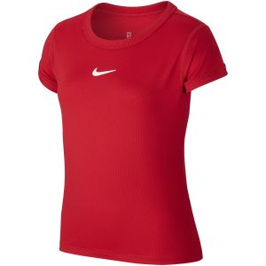 T-Shirt Fille Dri-Fit Compete Rouge