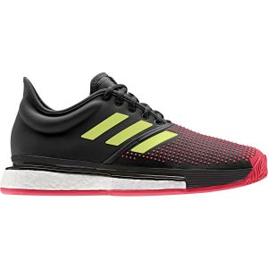 Offre Spéciale Chaussures Homme Adidas ATP Tour SoleCourt Boost 2019 - Terre Battue - Surfaces glissantes - Padel - Taille 44