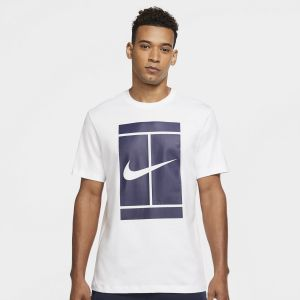 T-Shirt Homme Nike Graphic Court Blanc
