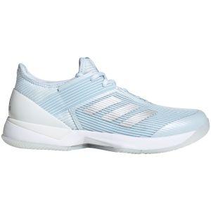Chaussures Dame Adidas Adizero Ubersonic 3 Bleu/Argent - Toutes surfaces