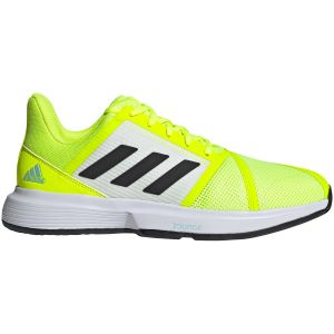 Chaussures Homme Adidas CourtJam Bounce Jaune Lime - Toutes surfaces