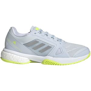 Chaussures Dame Adidas Court Stella Bleu/Lime - Toutes surfaces