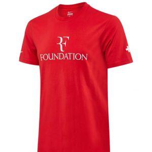 T-Shirt Homme Nike Federer - Rouge Swiss