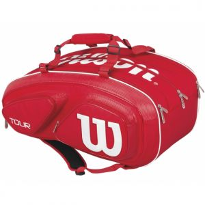 Sac Wilson Tour V 15 raquettes Rouge/Blanc