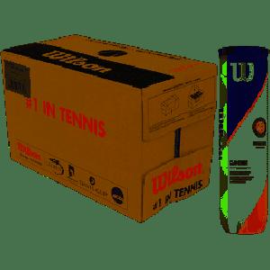 Carton de 18 Tubes de 4 Balles Wilson Sponsor Officiel Roland Garros Terre Battue