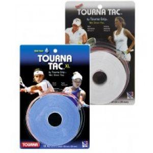 Surgrip Tourna x10 XL Pour Raquette Allongée- Utilisé en WTA/ATP Tour Bleu ou Blanc