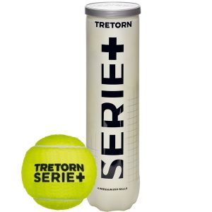 Balles Tretorn Tube de 4 Serie+ Officielles Swiss Tennis Compétitions