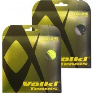 Cordage Völkl Cyclone 1.25 ou 1.30 - 3 Couleurs à choix Jaune lime/Orange/Noir (Prise d'Effets - Contrôle et Durabilité)