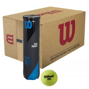 Carton 18 Tubes de 4 Balles Wilson Tour Premier - All Court