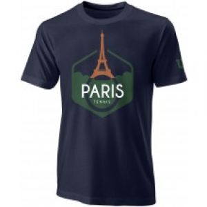 T-Shirt Performance Paris RG Bleu marine