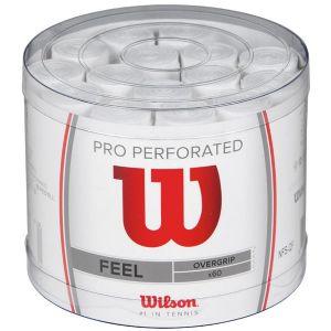 60 Surgrips Wilson Pro Perforés - Blanc